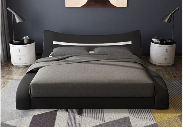 Genuine Leather Bed Frame   4