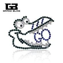 Handmade Jewelry Rhinestone Alligator Lapel pin FREE SHIPPING