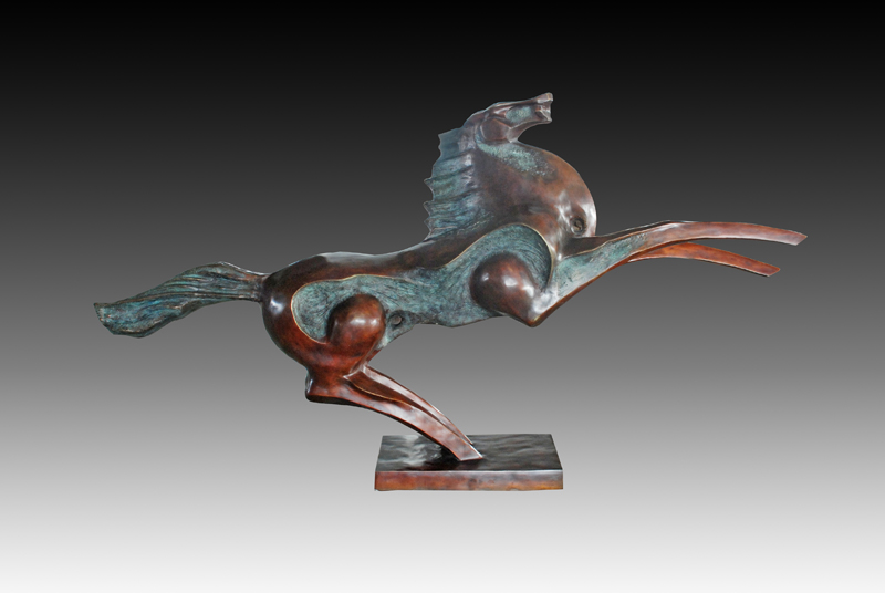 Abstract Large Flying Horse Statue Outdoor Sculpture Bronze Figurines Life  Size Animal Estatua Garden Statues Decoration In Statues U0026 Sculptures From  Home ...
