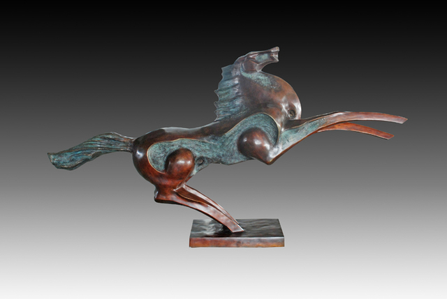 Abstract Large Flying Horse Statue Outdoor Sculpture Bronze Figurines Life  Size Animal Estatua Garden Statues Decoration