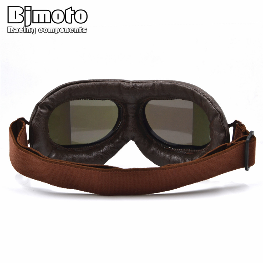8aed1121b1 New Universal Vintage Pilot Biker Motorcycle Goggles glasses for Helmet  Open Face Half Motocross Goggles For Harley Motorbikes on Aliexpress.com