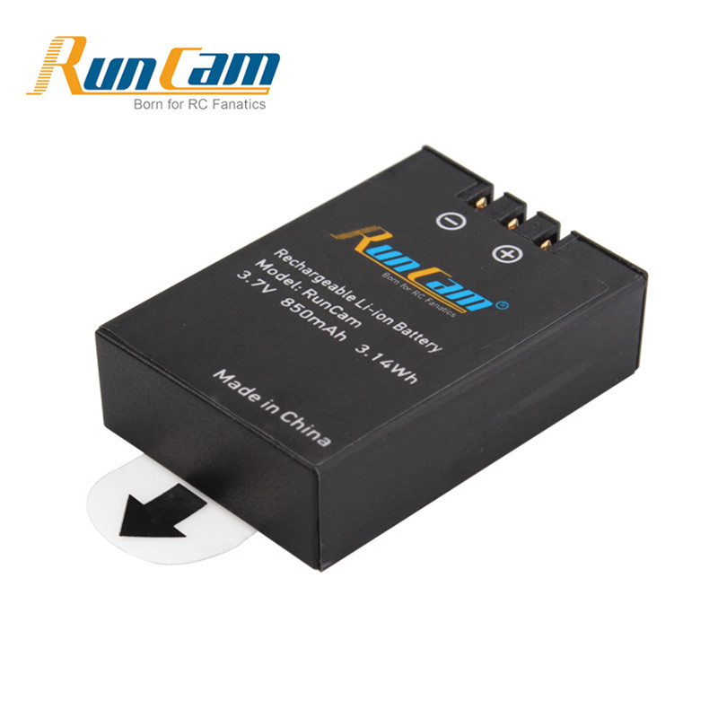 Runcam 2 3s Action Camera Spare Part Rechargeable <font><b>Battery</b></font> <font><b>3.7V</b></font> <font><b>850mAh</b></font> 3.14Wh Li-ion <font><b>Battery</b></font> RC2-09 RC Models Accessories image
