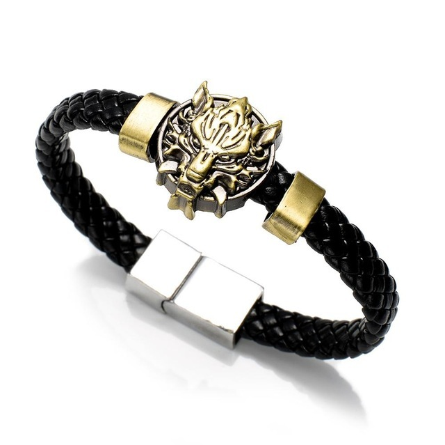 Leather braided bracelet Woven