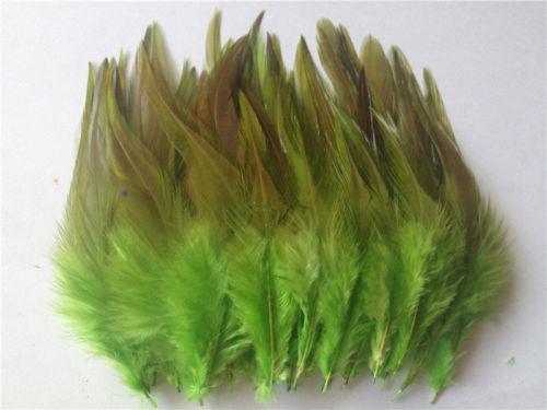 Горячая распродажа! 50 шт синее перо фазана, длина 10-15 см, DIY украшения для ювелирных изделий - Цвет: Apple Green