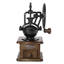 Vintage Manuel Kahve Değirmeni Retro Tarzı Ahşap Kahve Bean Mill Taşlama Dönme dolap Tasarım El Kahve Makinesi Makinesi