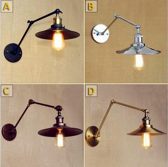 Nastavitelný Swing Long Arm nástěnná svítidla Obývací pokoj Edison Retro Vintage Nástěnná lampa Industiral Sconce Lamparas De Pared