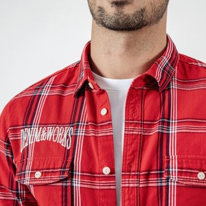 Image 3 - SIMWOOD New 2020 Autumn Casual Plaid Shirts Men High Quality Letter Embroidered Shirt Male High Quality Brand Clothing 190205