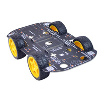 DS Intelligent Wifi RC Car Robot Chassis Four wheel Drive DIY Chassis w/ 4x 65mm Rubber Wheels 4x TT Motors For STM32 Arduin*