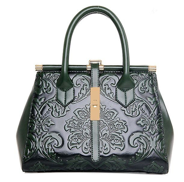 Vintage Chinese Style Embossing Shell Women Bag 2017 Red HandBags Hot Fashion Casual Solid Green Elegant Totes Bags