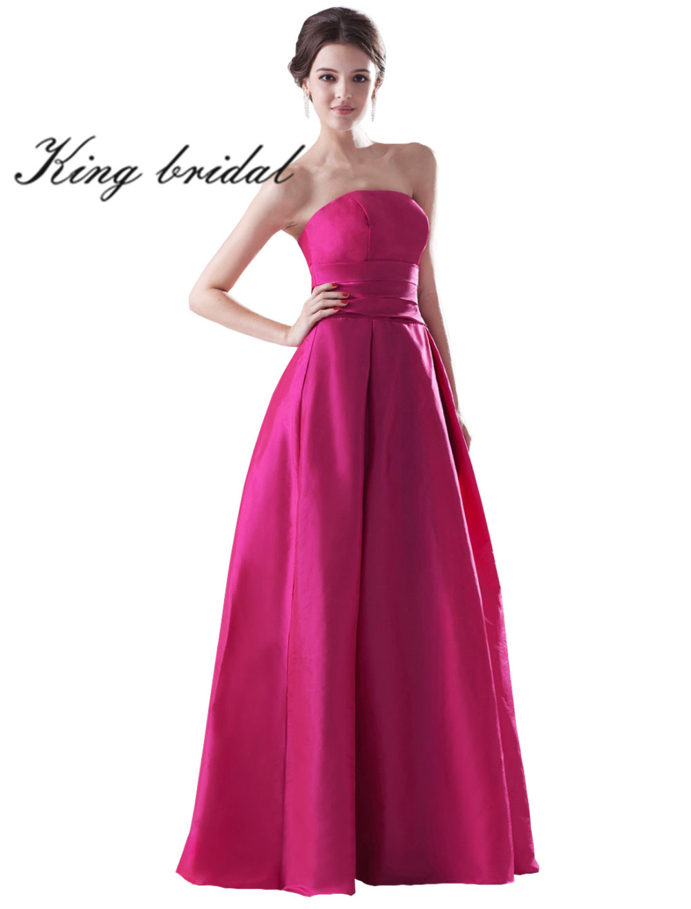 Lujoso Vestido De Fiesta Sin Tirantes Púrpura Patrón - Colección de ...