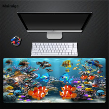 Mairuige HD Tropical Fish Blue Mouse Pad Desktop Mat Game Speed Pad High Quality Rubber + Cloth Mouse Pad Home Gift