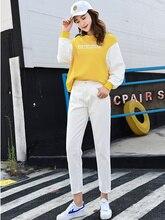 Fashion Ripped Jeans Woman High Waist Boyfriend Jeans For Women Plus Size Blue Black White Denim Mom Jeans Pants Trousers 338-2 цена 2017