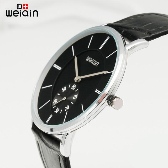 f443e0d112f WEIQIN Mens Relógios Marca De Luxo Ultra Fino Relógio De Quartzo Homens  2019 Negócios Pulseira de