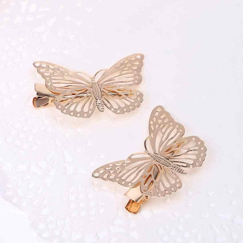 8 шт. полые шпильки в форме бабочки заколки для невесты женские заколки для волос Летние свадебные украшения для волос