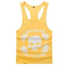 New Brand Clothing Bodybuilding Fitness Men Tank Top Skull Letter Print Vest Stringer Undershirt 22