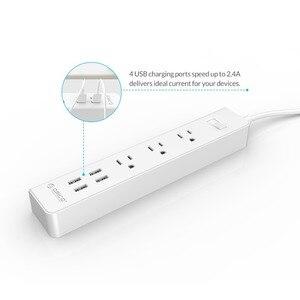 Image 3 - ORICO akıllı ev elektronik güç şeridi priz 3 AC çıkışları abd tak 4 USB bağlantı noktaları çok fonksiyonlu masaüstü soketi