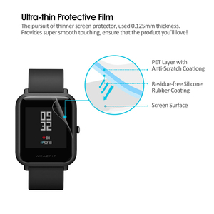 Image 3 - 5個amazfitビット超薄型antiexplosion tpuスクリーンプロテクターxiaomi huami amazfit bipペースliteユーススマート腕時計