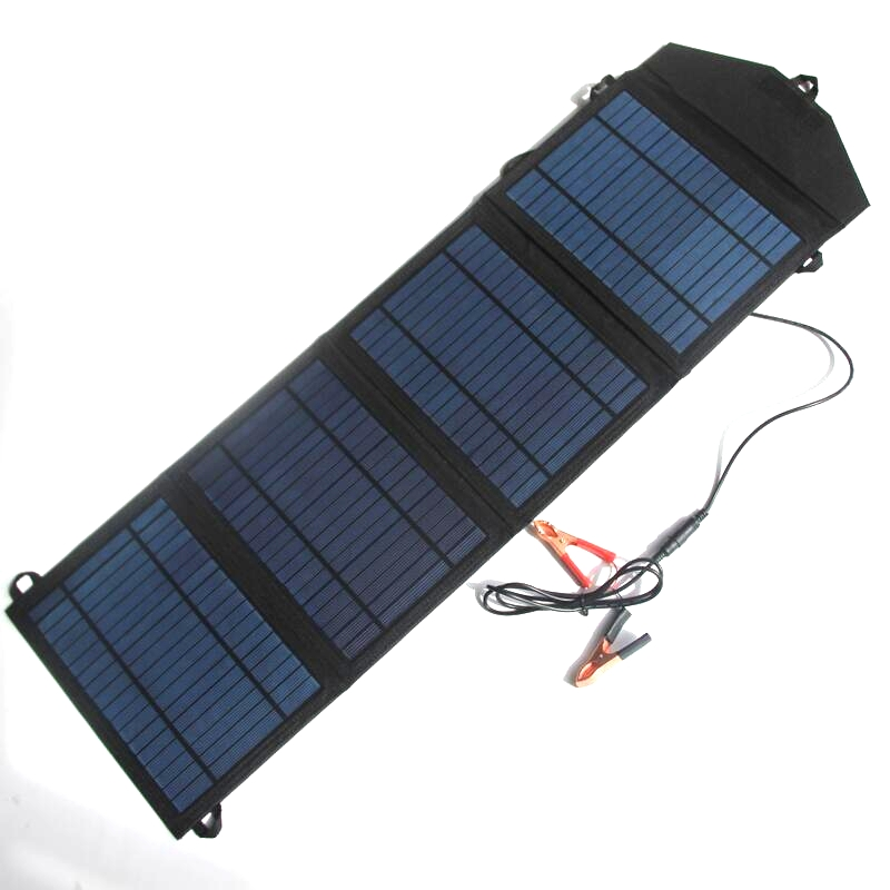 BUHESHUI 20W 18V/5V Foldable Solar Panel Charger For Mobile Pohone/12v Battery Car Charger Dual USB+DC Output Free Shipping tuv portable solar panel 12v 50w solar battery charger car caravan camping solar light lamp phone charger factory price