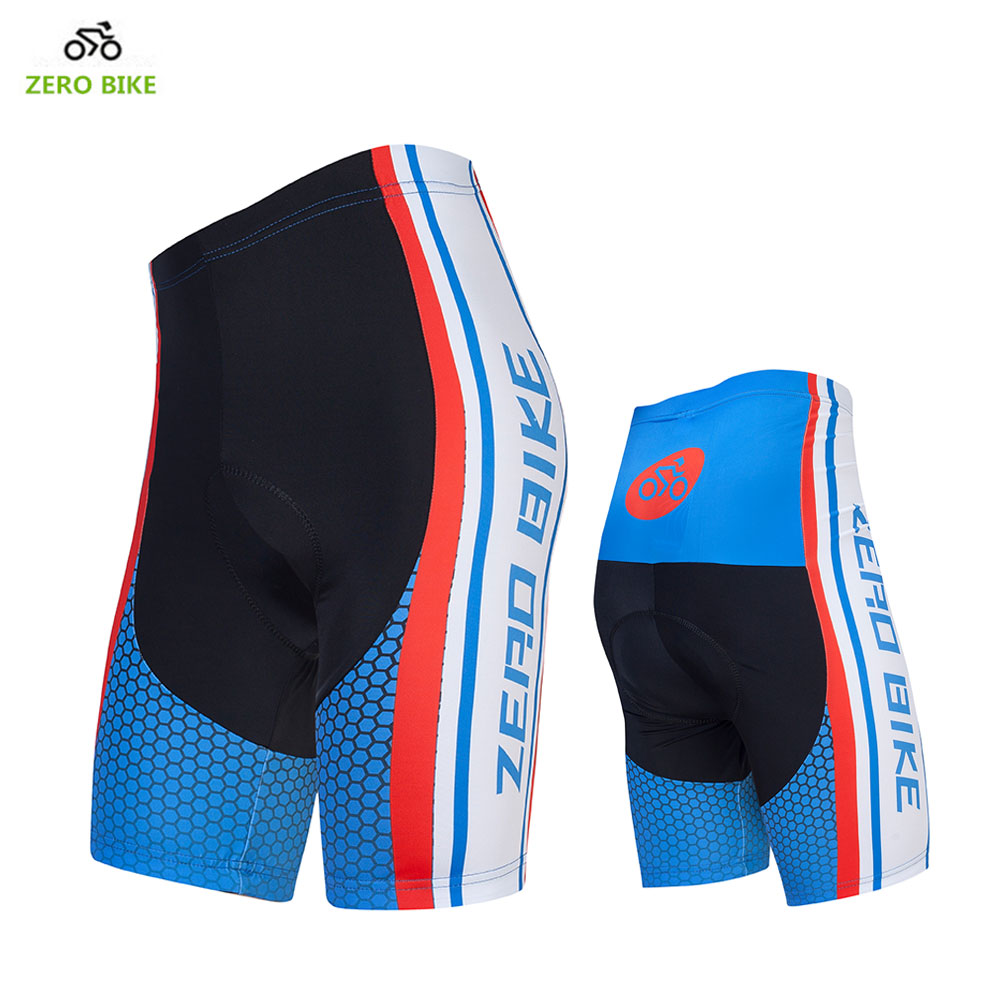 ZERO BIKE New arrival Quick Dry 4D GEL Padded Blue Cycling Shorts Tight for Men Mountain Bike equipment ciclismo M-XXL