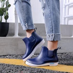 Image 2 - Swyovy Botas de lluvia impermeables para mujer, zapatos de agua, botas de agua para mujer, 2018