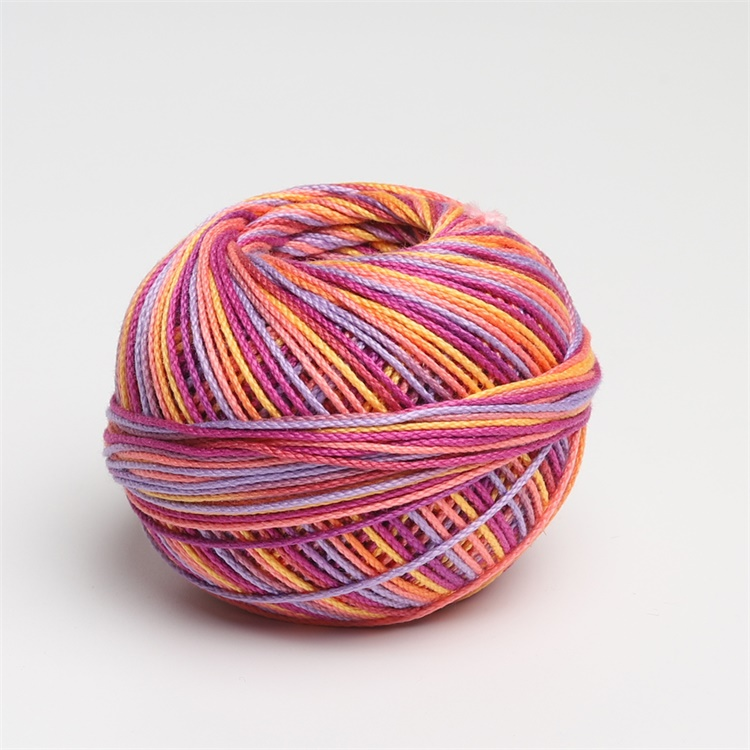 Размер 3 хлопок жемчуг пестрый 50 грамм мяч египетская длинноштапельная хлопковая пряжа газированная двойная мерсеризованная 6 нитей плетение - Цвет: 139