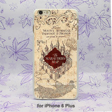 ETFC-172 Harry Potter Marauders Map Pattern hard White Skin Case Cover for iPhone 4 4s 4g 5 5s 5c 6 6s 6 Plus(China (Mainland))