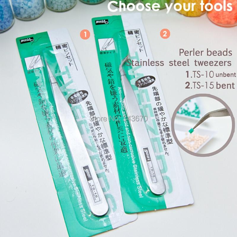 foro hama korálky 3d z nerezové oceli pinzeta klip 2 styl může vybrat nejlepší řemeslo perler perle korálky hračku obchod zdarma doprava