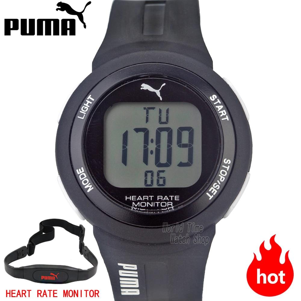 PUMA часы мужские спорт | Спортивная Серия Модные сердечный ритм функция электронные мужские часы PU911101001 PU911101004 PU911101003