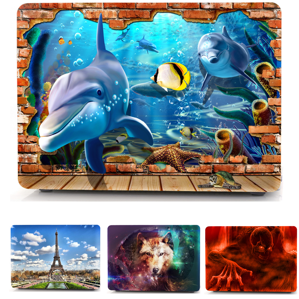 Print Hard Cover Sleeve Case For Apple Mac Macbook Pro Retina 13.3 12 15.4 Air 13 11 New touch bar 13.3 Price $19.99
