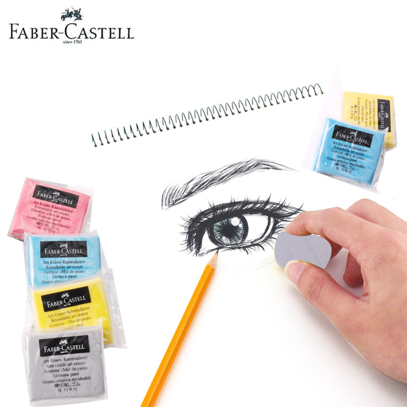 Faber-Castell Kneadable Art Erasers Soft Rubber Correction And Lightening For Drawing Artists Sketch Pencil Highlight Kneaded