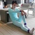 Hi-q algodón peinado ropa interior masculina set 2016 Nuevo estilo sexy impreso hombres Pantalones Calientes térmica Calzoncillos Largos medias Legging