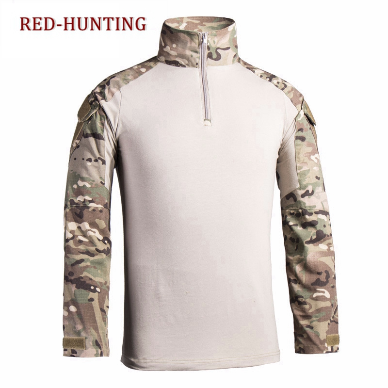 Gear Camouflage Army Hiking T-shirts Men Soldiers Combat Tactical Military Force Multicam Camo Long Sleeve Hunting T-shirt Orologi E Gioielli