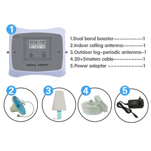 Image 5 - GSM WCDMA LTE Mobile Phone Signal Booster 3G 4G LTE 1800 2100 Dual Band Cell Phone Cellular Signal Repeater Amplifier For Home