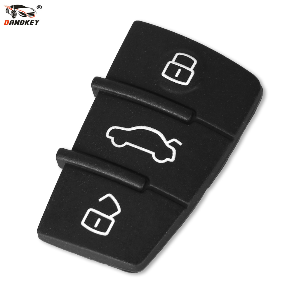 DANDKEY Replacement For Audi A3 A4 A5 A6 A8 Q5 Q7 TT S LINE RS Rubber Pad Remote Key Keyless Fob 3 Button