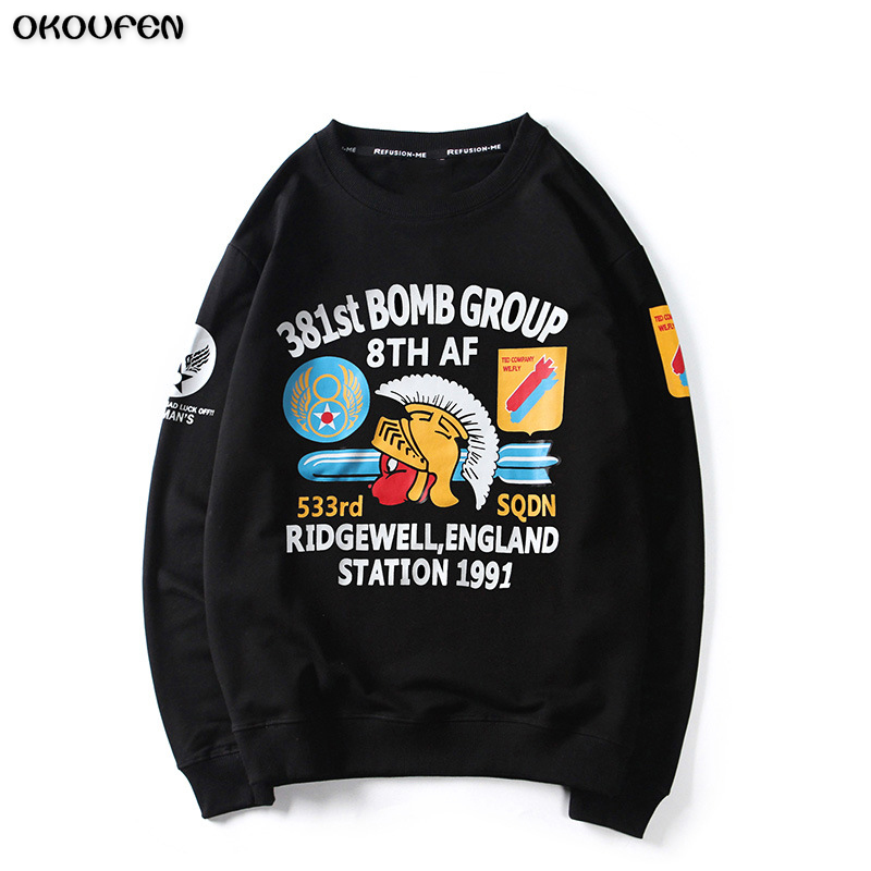 2018 New Women&Men Hoddies Sweatshirts Couples Tracksuits Mysterious Lucky Ghost Hoodies Men Streetwear Personality Tops WY10