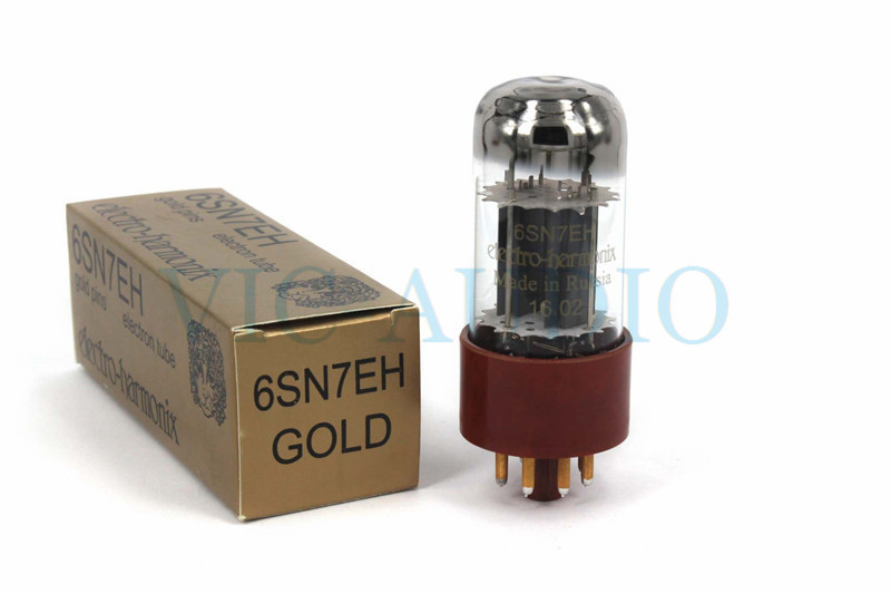 1PC Russia Tube New Electro-Harmonix Gold 6SN7 6SN7EH Replace 6N8P 6H8C CV181 Tube 8PINS Electron Tube Free Shipping