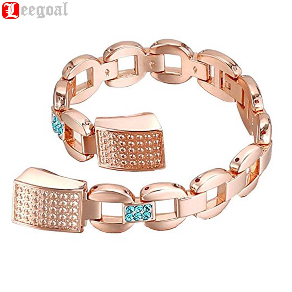 Silver Metal Bands For Fitbit Alta Luxury Diamond Watchband Metal Strap Stainless Steel Watch Band Bracelet Wrist Strap Rosegold