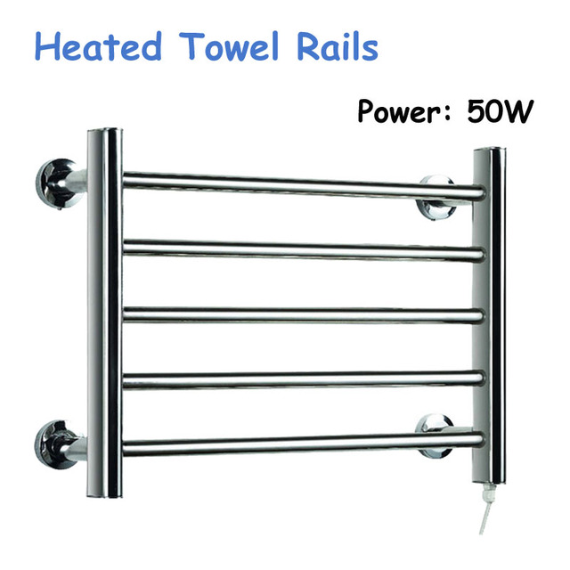 1pc 50W Heated Towel Rails Holder Bathroom Accessories Towel Rack Steel  Electric Towel Warmer Towel Dryer