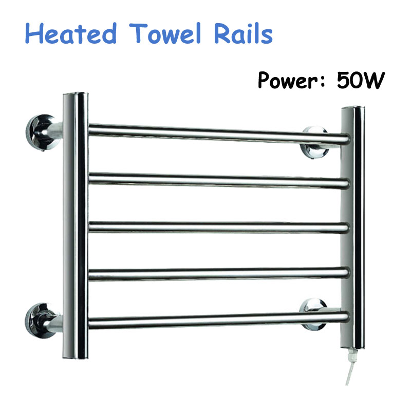 50W Heated Towel Rails Holder Bathroom Accessories Towel Rack Steel Electric Towel Warmer Towel Dryer & Heater Banheiro YEK-804550W Heated Towel Rails Holder Bathroom Accessories Towel Rack Steel Electric Towel Warmer Towel Dryer & Heater Banheiro YEK-8045
