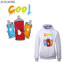 ZOTOONE Cool Patch Iron-on Transfers for Clothing Iron Stickers Applique Heat Transfer Vinyl Thermal Press Stripes on Clothes