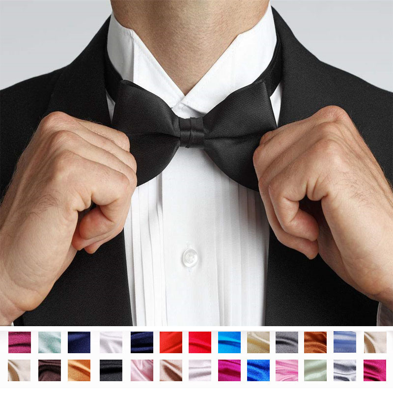 Men Accessories Bow Tie Classic Satin Noeud Papillon Homme Variety Colors Available Gravata