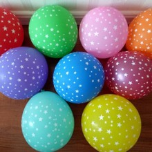 Print balloons 50pcs/lot12 inch thick round star latex balloon baby 1st birthday party ballon wedding decor supplies