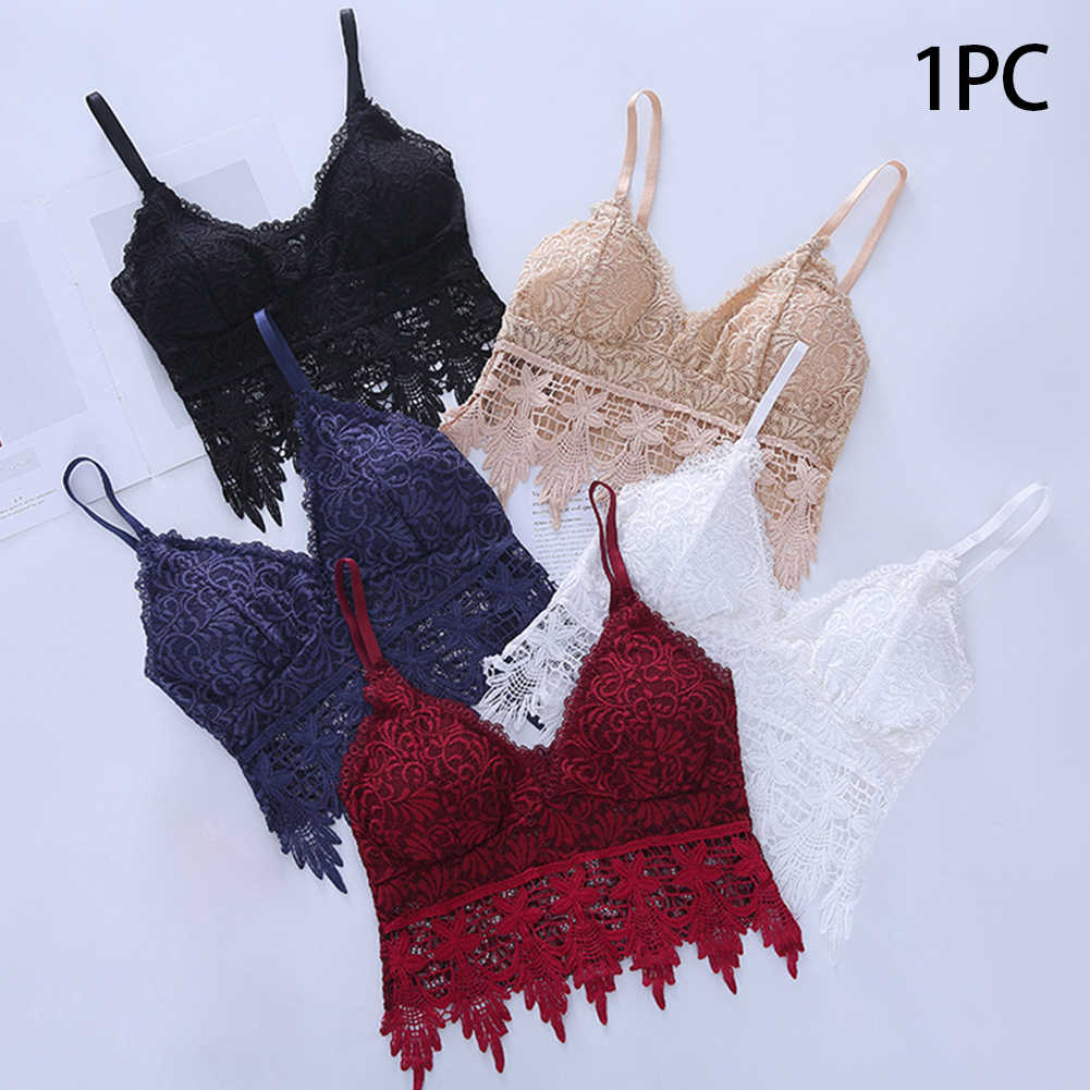 מרופד סקסי תחרה סרוגה מוצק נשים חולצת סטרפלס ספגטי רצועת חזה לעטוף לא פלדה לנשימה רך תחתוני חולצה אפוד
