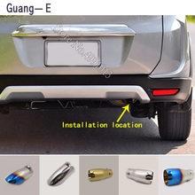 Para Nissan BR-V BRV 2015-2017 adesivos de carro tampa tubo de escape ponta silenciador extremidade do tubo exterior de volta dedicar tomada ornamento 1 pcs