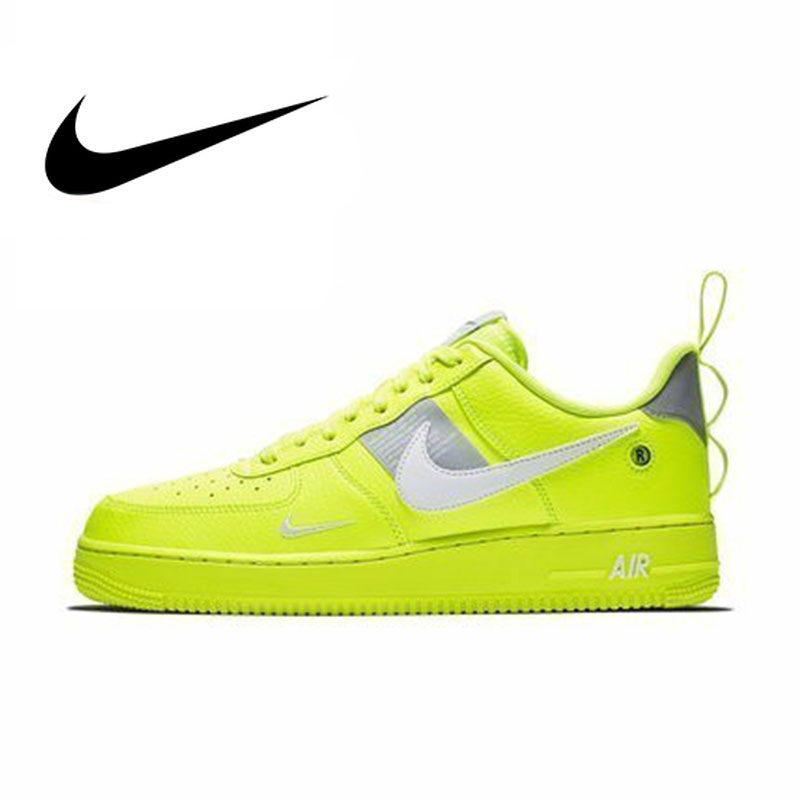 Original Authentic Nike Brand Air Force 1 Men's Skateboarding Shoes Low Top Sneakers 2019 New Arrival Outdoor Sports AJ7747