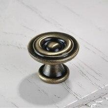30mm Bronze Kitchen Cabinet  Knobs Antique Zinc Alloy Drawer Dresser Wardrobe Furniture handles pulls knobs