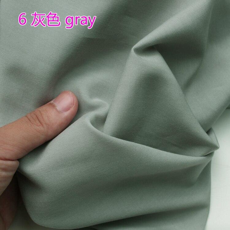 Gris Viscose Tissu Coton Tissu de Soie Artificielle Coton Tissu Jupe Tissu 60 large Vendu Par Le Yard Livraison Gratuite!