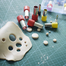 1mm-10mm 40pcs/lot Mini Stainless Steel Round Punch Cutter Polymer Clay Ceramics Pottery Hole Making Sculpting Tools