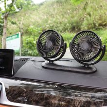 Summer Car Fan 12v 360 Degree All-Round Adjustable Car Fan Cooling Dual Head Fan Low Noise Car Air Conditioner 12v 24v car air conditioner fan portable ventilateur mini fan silent 360 degree rotating adjustable car air cooling fan blower