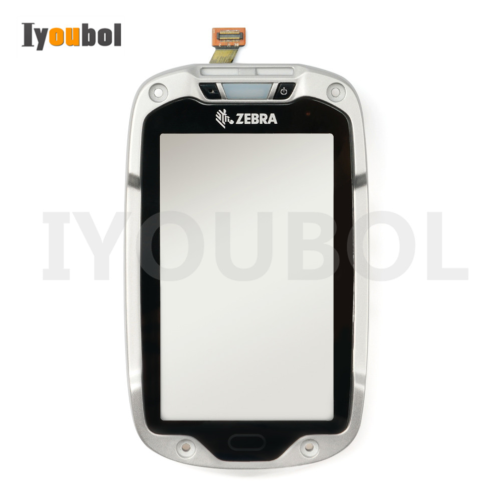 Touch Screen With Front Cover For Motorola Symbol Zebra TC8000 TC80NH